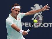 Roger Federer zieht in Miami problemlos in die Viertelfinals ein (Bild: KEYSTONE/AP/LYNNE SLADKY)