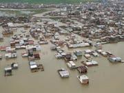 Mindestens 30 Tote und 240 Verletzte: Das ist die vorläufige Bilanz der verheerenden Überschwemmungen im Iran. (Bild: KEYSTONE/EPA PRESIDENTIAL OFFICE/PRESIDENTIAL OFFICE HANDOUT)