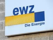 Kein Strom mehr: Das Logo der Elektrizitätswerke der Stadt Zürich. (Bild: KEYSTONE/STEFFEN SCHMIDT)