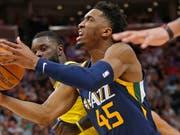 Utahs Donovan Mitchell im Angriff (Bild: KEYSTONE/AP/RICK BOWMER)