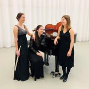 Von links: Yvonne Gisler an der Querflöte, Silvia Pellegrini am Klavier und Aline Vonderwahl am Cello sorgen im Theater Uri für ein abwechslungsreiches Klassik-Konzert. (Bild: PD)