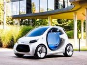 Daimler bringt Smart in Joint Venture mit Geely ein. (Bild: Studie smart vision EQ fortwo von 2017, Archiv) (Bild: KEYSTONE/PPR/OBS/SMART/DAIMLER AG - GLOBAL COMMUNICATION)