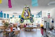 Der Blick in das Zimmer einer Kindergartenklasse. (Bild: Christian Beutler/KEY)