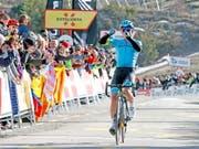 Miguel Angel Lopez war der grosse Sieger der 4. Etappe (Bild: KEYSTONE/EPA EFE/TONI ALBIR)