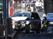 Mit diesem Auto raste ein IS-Sympathisant 2017 in der australischen Stadt Melbourne in eine Menschenmenge. 20 Menschen wurden verletzt, einer davon starb später im Spital. (Bild: KEYSTONE/EPA AAP/JOE CASTRO)