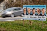 Die fünf bürgerlichen Regierungsratskandidaten werden von den Wirtschaftsverbänden unterstützt. (Bild: Philipp Schmidli, Emmen, 17. März 2019)