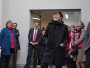 Zilla Leutenegger bei der Vernissage in St.Gallen. (Bild: Alexander Griesser, 28.3.2019)