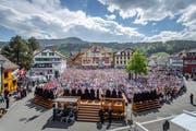 Die Landsgemeinde 2018 stand im Zeichen der Spitaldiskussion und der Wahl des neuen Säckelmeisters. (Bild: Michel Canonica)