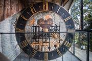 Die Rathaus-Uhr. (Bild: Boris Bürgisser, Luzern, 26. März 2019)