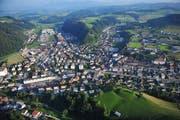 Willisau von oben. (Bild: Corinne Glanzmann, 8. September 2012)