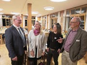 Präsident Josef Lussi mit den neugewählten Vorstandsmitgliedern Caroline Winter und Petra Liem sowie dem wiedergewählten Vizepräsidenten Peter Wyss (von links). (Bild: Martin Uebelhart (Niederrickenbach, 28. März 2019))