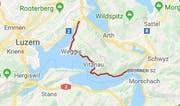 Kantonsstrasse K2b. (Bild: googlemaps.ch)