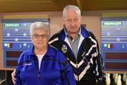 Agnes Gisler und Bruno Epp sicherten sich Kategoriensiege an der Belloni-Meisterschaft. (Bild: Georg Epp, Erstfeld, 26. März 2019)