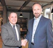Der abtretende BVZ-Präsident Peter Rust (links) und sein Nachfolger Franz Aebli. (Bild: PD)