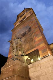 Am Samstagabend wird die Beleuchtung des Telldenkmals für eine Stunde ausgeschaltet. (Archivbild: Angel Sanchez/UZ)