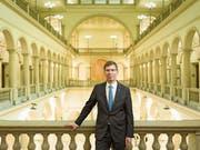 Seit Anfang Jahr ETH-Präsident: Joël Mesot, hier im Hauptgebäude der ETH in Zürich. (Bild: Gaëtan Bally/Keystone (13. Februar 2019))