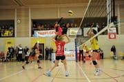 Volley Toggenburg bleibt in der Aufstiegsrunde das Mass der Dinge und feiert gegen Therwil den fünften Sieg in Serie. (Bild: Reinhard Kolb)