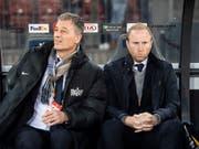 Sportchef Thomas Bickel und Ludovic Magnin haben nicht eitel Freude an ihren Spielern (Bild: KEYSTONE/ENNIO LEANZA)