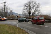 Die Unfallstelle auf der Heinrichsbadstrasse knapp vor der St.Galler Stadtgrenze zu Herisau. (Bild: Stadtpolizei St.Gallen - 1. März 2019)