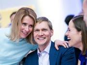 Hat nun beste Chancen, die erste Ministerpräsidentin Estlands zu werden: Kaja Kallas, Vorsitzende der konservativen Reformpartei. (Bild: KEYSTONE/AP/RAUL MEE)