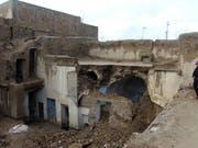 Bis zu 2000 Häuser zerstört: Bei starken Niederschlägen in der südafghanischen Provinz Kandahar sind zahlreiche Menschen ums Leben gekommen. (Bild: KEYSTONE/EPA/MUHAMMAD SADIQ)