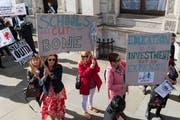 Lehrer demonstrieren in London gegen Budgetkürzungen an ihren Schulen. (Bild: Wiktor Szymanowicz / Getty, 28. September 2018)