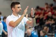 Lucian Jachowicz, Trainer des NLB-Clubs Züri Unterland, hatte den Satzgewinn prophezeit und insgesamt auf ein noch besseres Ergebnis des Aussenseiters gehofft. (Bild: Adrien Perritaz/KEY)