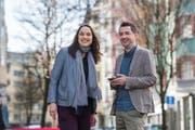 Die Geschwistern Rahel und Markus Estermann haben beide für den Kantonsrat kandidiert. Sie schafft die Wahl, er bleibt ohne Chance. (Bild: Dominik Wunderli, 31. März 2019)