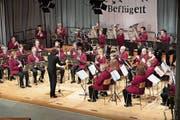 Die Musikgesellschaft Menzingen. (Bild: Roger Zbinden, Menzingen, 30. März. 2019)