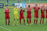 Nur die Spieler selbst applaudierten am Wochenende: Bütschwil gelang der Rückrundenauftakt. (Bild: Beat Lanzendorfer)