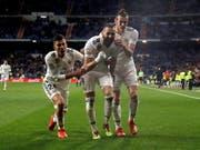 Karim Benzema schoss Real Madrid vor nur knapp 50'000 Zuschauern im Bernabeu zum Sieg (Bild: KEYSTONE/EPA EFE/JUANJO MARTIN)