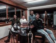 Das junge Unternehmerteam hinter Sayblake (von links): Kevin Pfaffhauser, Fabio Litscher, Ishan Don und Atilla Deniz. (Bild: PD)
