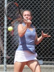 Nadine Keller überraschte mit dem dritten Rang im Doppel an den Schweizer Meisterschaften der Aktiven. (Bild: Mario Gaccioli)
