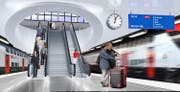 Der Durchgangsbahnhof Luzern könnte nach dem Entscheid im Ständerat bis 2040 gebaut werden. (Visualisierung: PD)