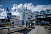 Blick auf den Hauptsitz der Hochdorf-Gruppe. (Bild: Corinne Glanzmann)