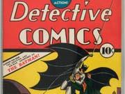 In diesem Heft von 1939 ist Comic-Held Batman zum ersten Mal aufgetaucht. Zu seinem 80 Geburtstag gibt es dieses Jahr zahlreiche Jubiläumsveranstaltungen (Archivbild). (Bild: Keystone/AP Heritage Auctions Galleries)