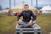 Alexander Lichner, überglücklicher Zirkusartist. (Bild: Urs Bucher)