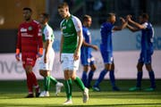 Cedric Itten ist am 26. August 2018 nach der neuerlichen Niederlage gegen Luzern enttäuscht. (Bild: Gian Ehrenzeller)
