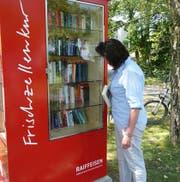 An mehreren Standorten in der Region Rorschach hat die Raiffeisen Schränke aufgestellt. (Bild: PD)