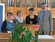 Daniela Brunner, Finanzen; Andrea Pizzol, Aktuarin; Sabina Nef, Vizepräsidentin, und Gerhard Friedrich, Präsident (v.l.). (Bild: Peter Jenni)