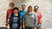Der aktuelle Vorstand des Vereins Buuramart: (von links) Lorenz Huber, Heidi Gantenbein, Florian Tischhauser, Barbara Samu, Thomas Eggenberger. (Bild: PD)