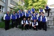 Die 20 Sänger des Hobbychörli Bürglen freuen sich auf einen gelungenen Unterhaltungsabend. (Bild: PD)