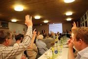 Die Anträge des Ortsbürgerrats passierten überwältigender Mehrheit. (Bild: Martin Knoepfel)