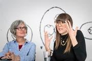 «Wir sensibilisieren», sagen Brigitte Meyer und Rahel Fenini, die Gleichstellungsbeauftragten des Kantons St.Gallen. (Bild: Michel Canonica)