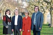 Engagieren sich für das Hospiz Zentralschweiz: Frieda Waldispühl, Peter Frigo, Rita Fasler und Andreas Haas. Bild: Stefan Kaiser (Zug, 1. April 2019)