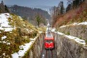 Die Rheineck-Walzenhausen-Bahn ist wegen tiefer Auslastung in Gefahr. (Bild: Urs Bucher)