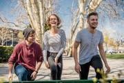 Die jüngsten Luzerner Kantonsräte: Jonas Heeb (links, 21), Judith Schmutz (22) und Samuel Zbinden (20). (Bild: Nadia Schärli (Luzern, 1. April 2019))