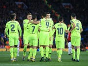 Der FC Barcelona erspielt sich im Old Trafford eine günstige Ausgangslage (Bild: KEYSTONE/AP/JON SUPER)