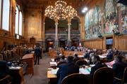 Ständeräte debattieren am Dienstag, 12. Maerz 2019, im Bundeshaus. (Key/Anthony Anex)