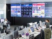 Der News-Room der Blick-Gruppe wird in den nächsten Monaten umgebaut. Es werden Studios für den Einsteig ins TV-Geschäft eingerichtet. (Bild: KEYSTONE/EQ IMAGES/DOMINIK BAUR)